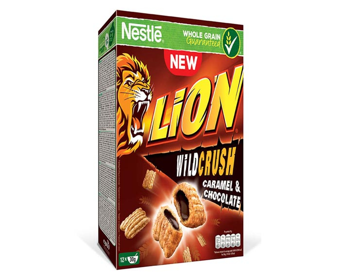 Зърнена закуска Nestle LION WILD CRUSH Caramel & Chocolate 360 г